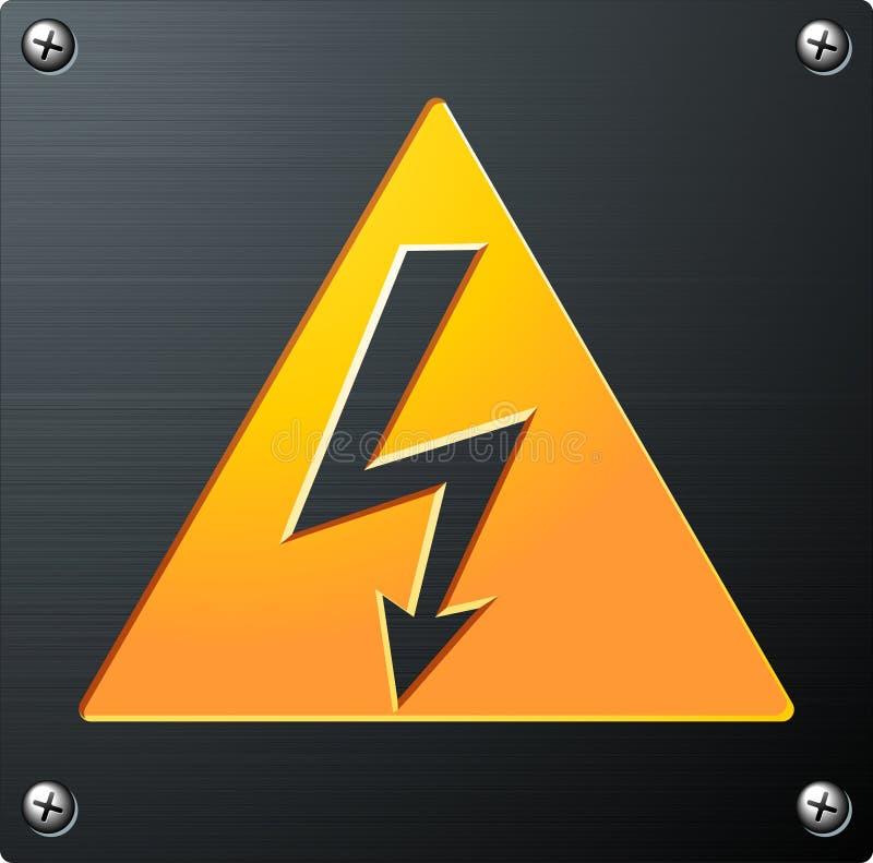 напряжение тока высокого знака иллюстрация штока