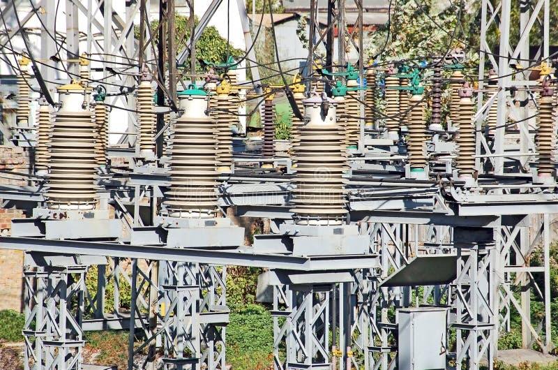 напряжение тока подстанции ac высокое стоковые фотографии rf
