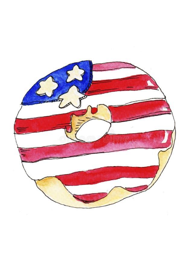 Нарисованная вручную акварель, День независимости поздравлениям бесплатная иллюстрация