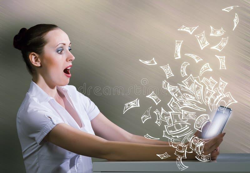 нарисованная наркоманией белизна вектора интернета иллюстрации руки стоковые изображения
