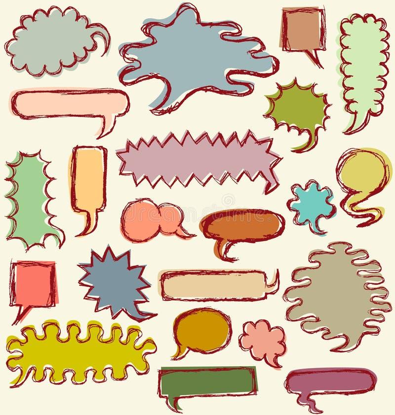 нарисованная пузырями речь руки бесплатная иллюстрация