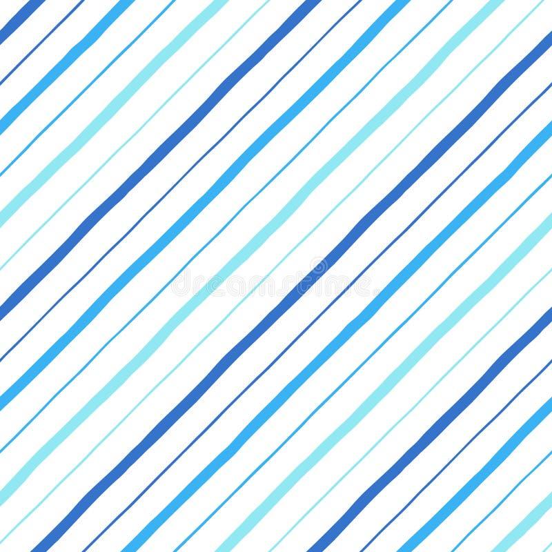 Нарисованная рука диагонали параллельная stripes безшовная картина иллюстрация вектора