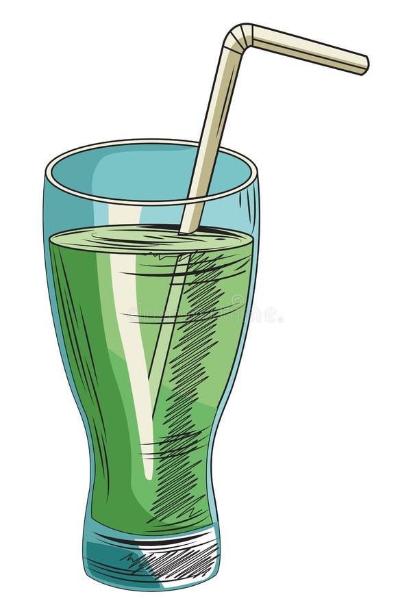 Нарисованная рука питания свежих продуктов здоровая иллюстрация вектора