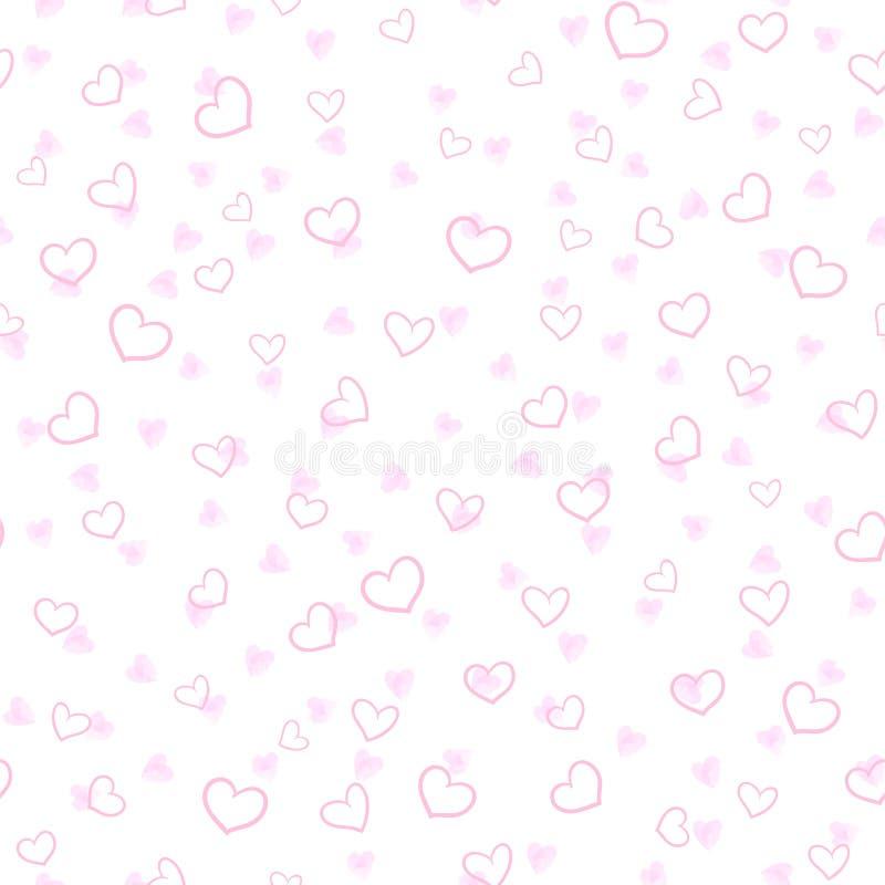Нарисованная рукой картина сердца безшовная бесплатная иллюстрация