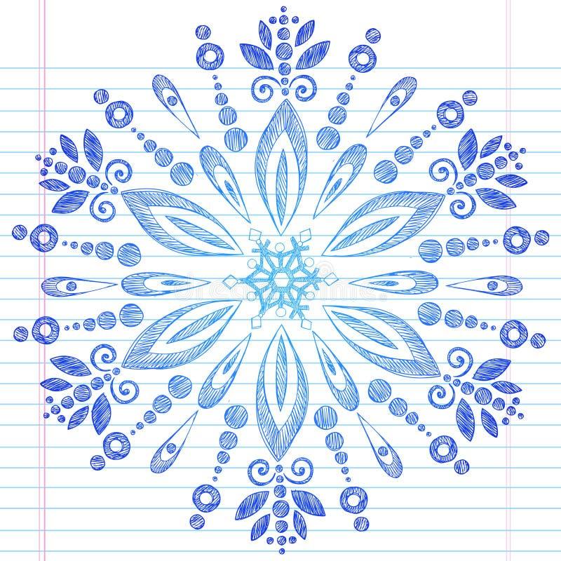 нарисованная doodle зима снежинки руки схематичная бесплатная иллюстрация