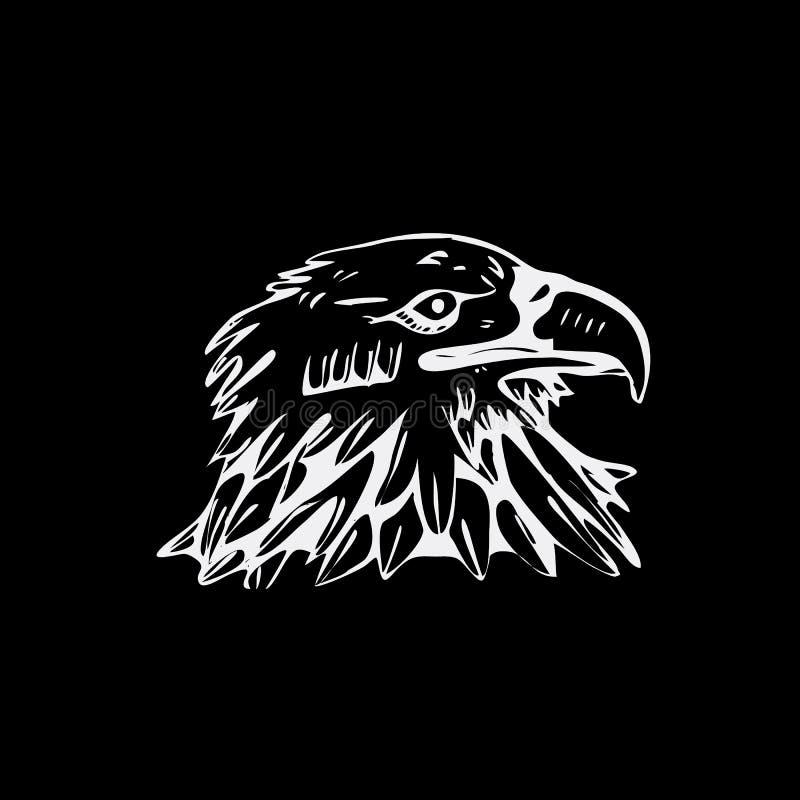 Нарисованные вручную графики карандаша, хищник, орел, скопа, сокол, хоук иллюстрация вектора