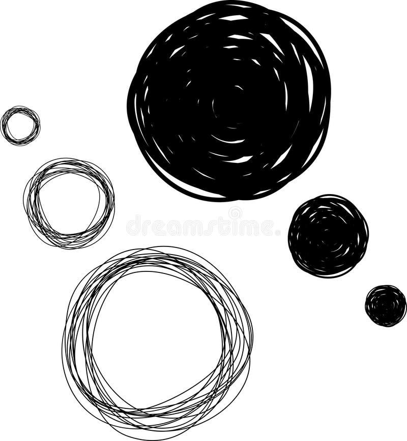 нарисованные пузыри вручают схематичную мысль иллюстрация штока