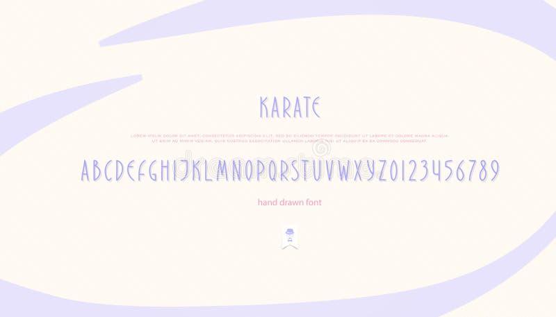 Нарисованные рукой письма и номера алфавита тип шрифта вектора стоковые фотографии rf