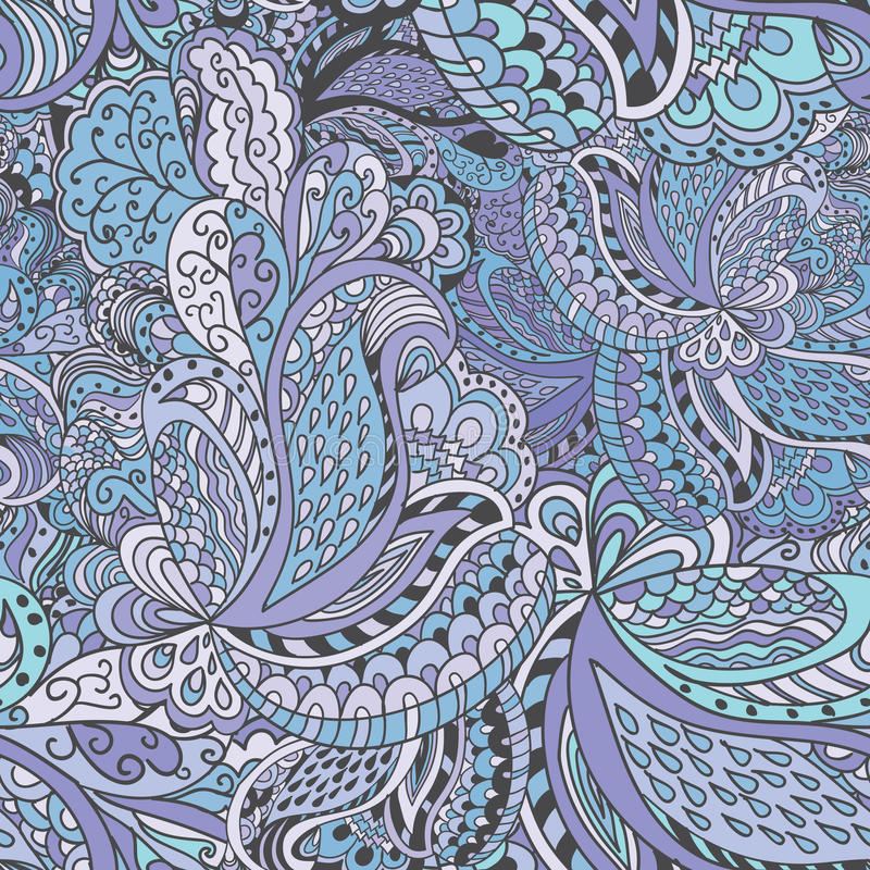 Нарисованный вручную абстрактная безшовная картина иллюстрация штока