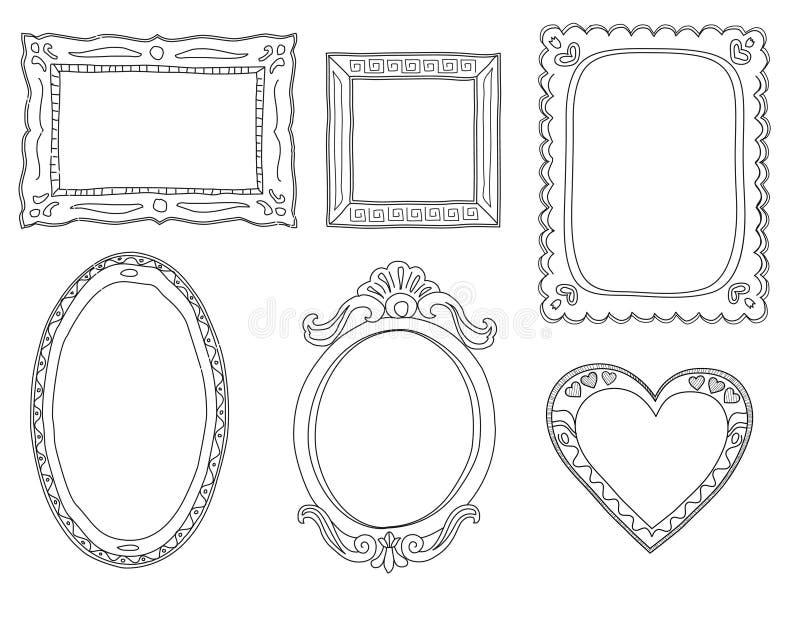 Нарисованный вручную рамки doodle иллюстрация штока