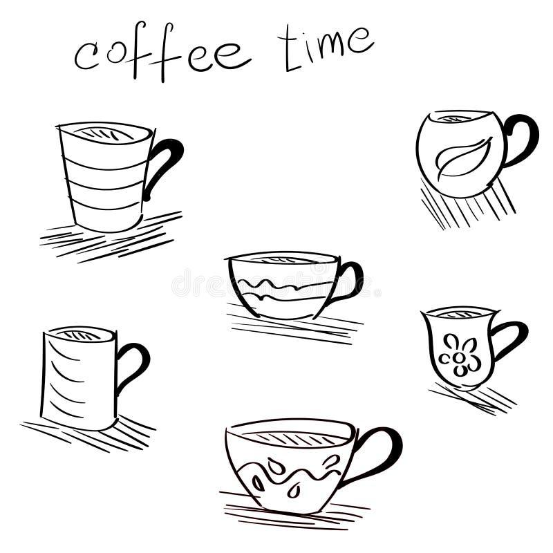 Нарисованный вручную эскиз чашки стоковое изображение rf