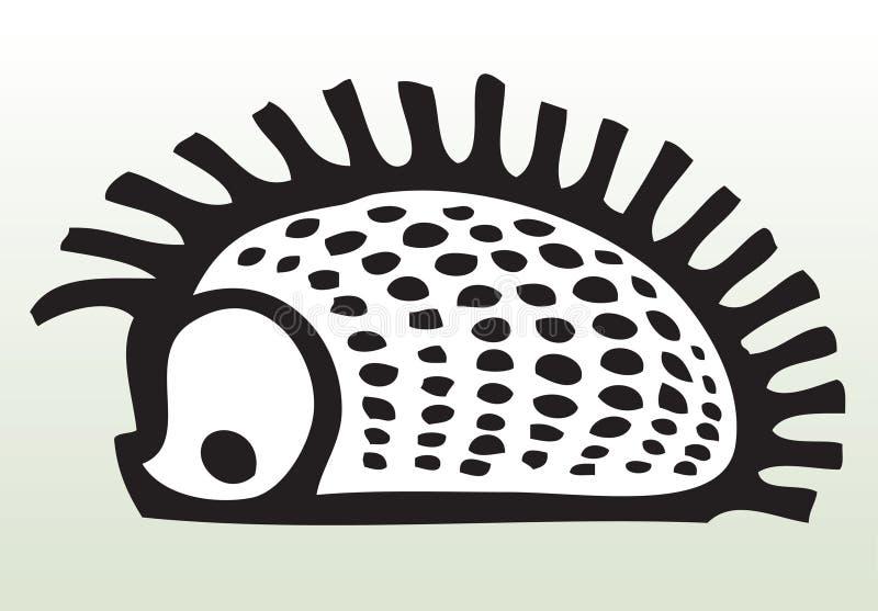 нарисованный животным hedgehog руки иллюстрация вектора