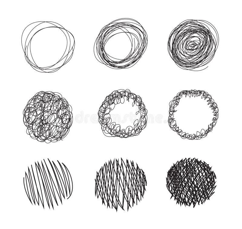 Нарисованный карандаш объезжает пузыри иллюстрация штока