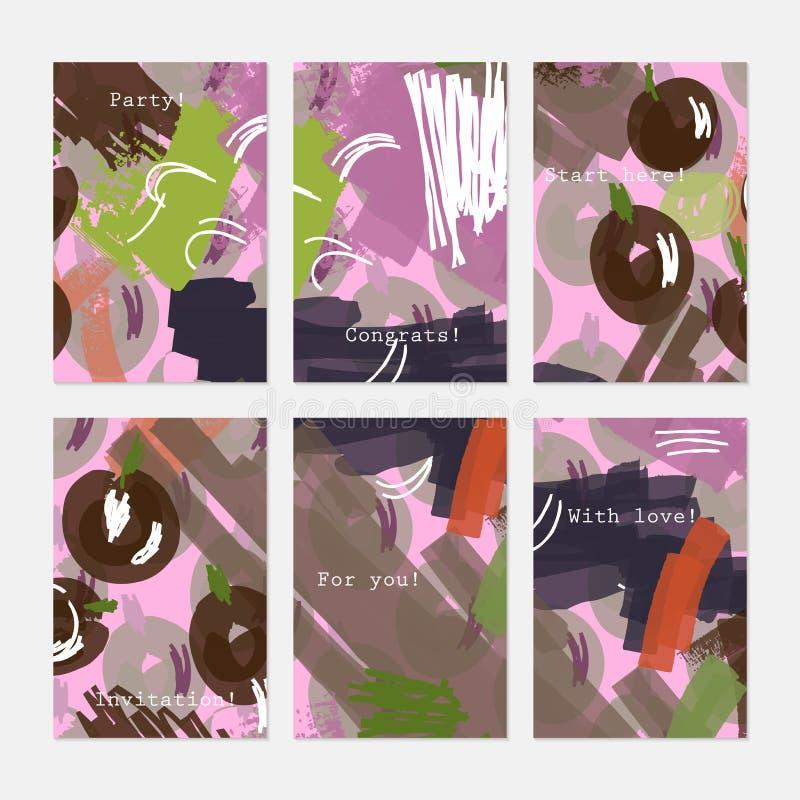 Нарисованный конспектом свет ягод коричневый - пурпур иллюстрация вектора