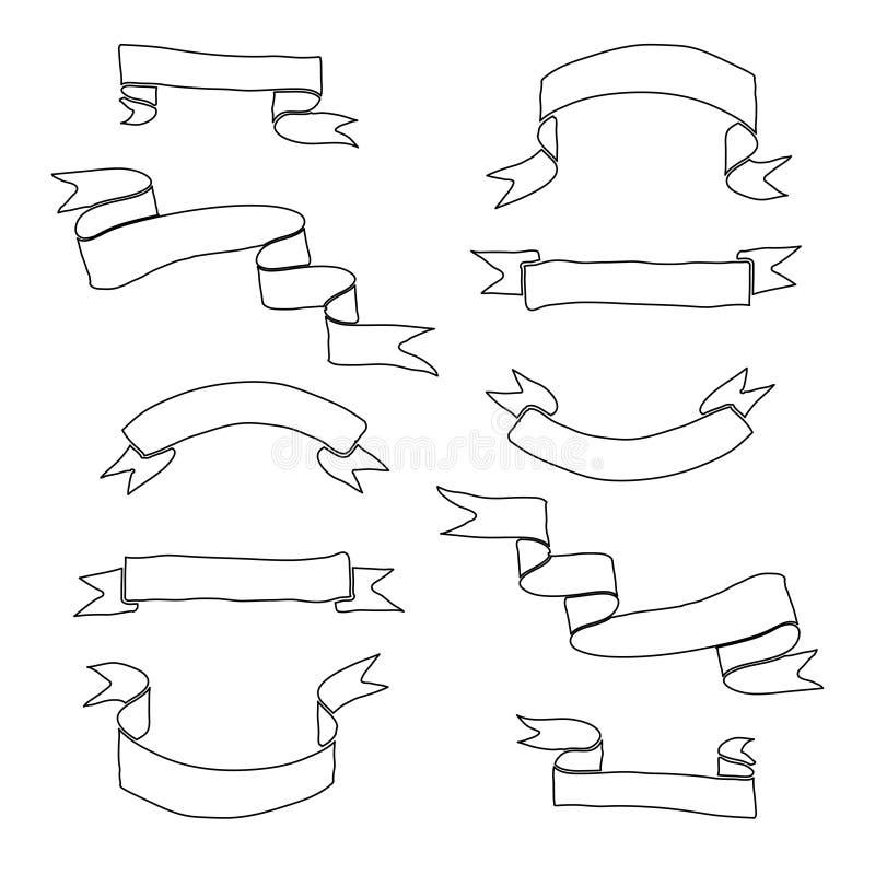 Нарисованный рукой комплект ленты стоковое фото rf
