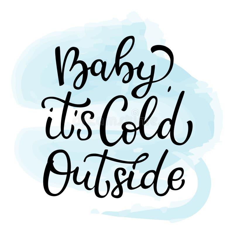 Нарисованный рукой младенец литерности вектора холодное снаружи Изолированный bl иллюстрация штока