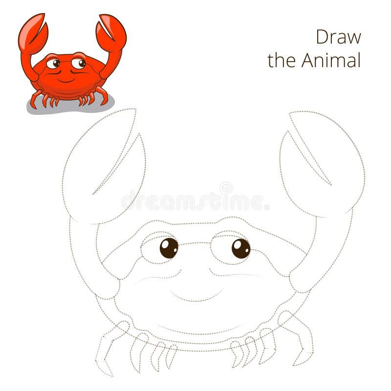 Нарисуйте игру животного краба рыб воспитательную бесплатная иллюстрация
