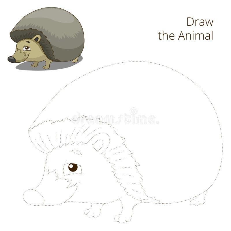 Нарисуйте шарж ежа леса животный бесплатная иллюстрация