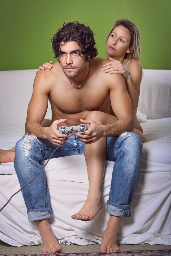 Наркомания видеоигр стоковое изображение rf