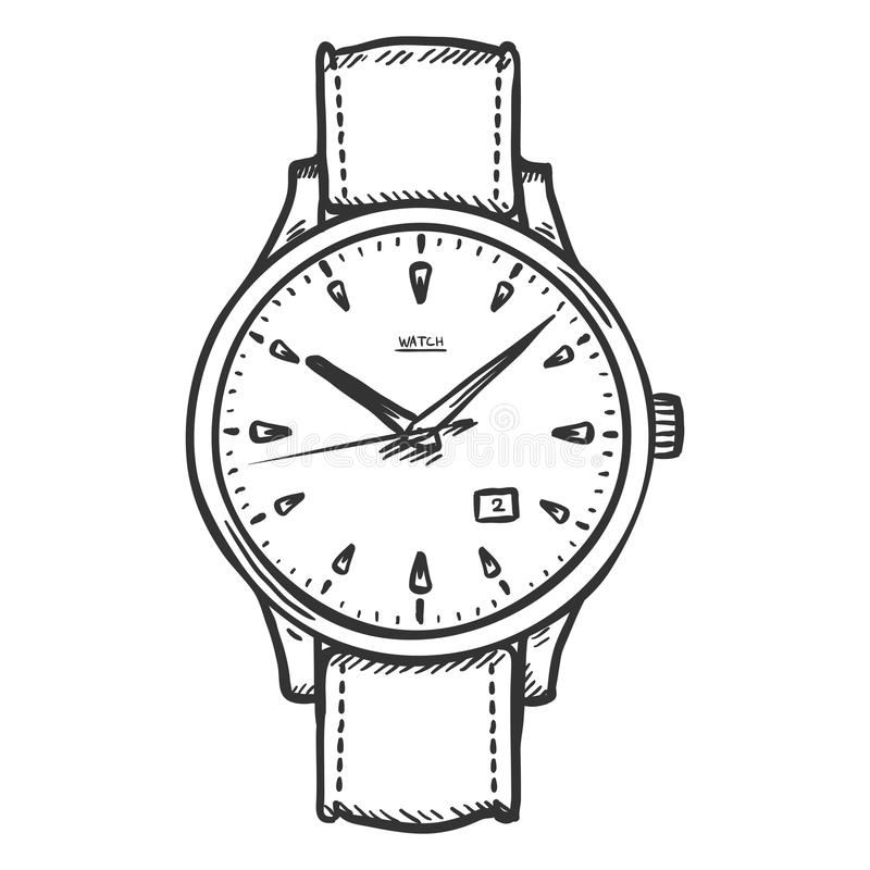 Раскраска наручные часы распечатать