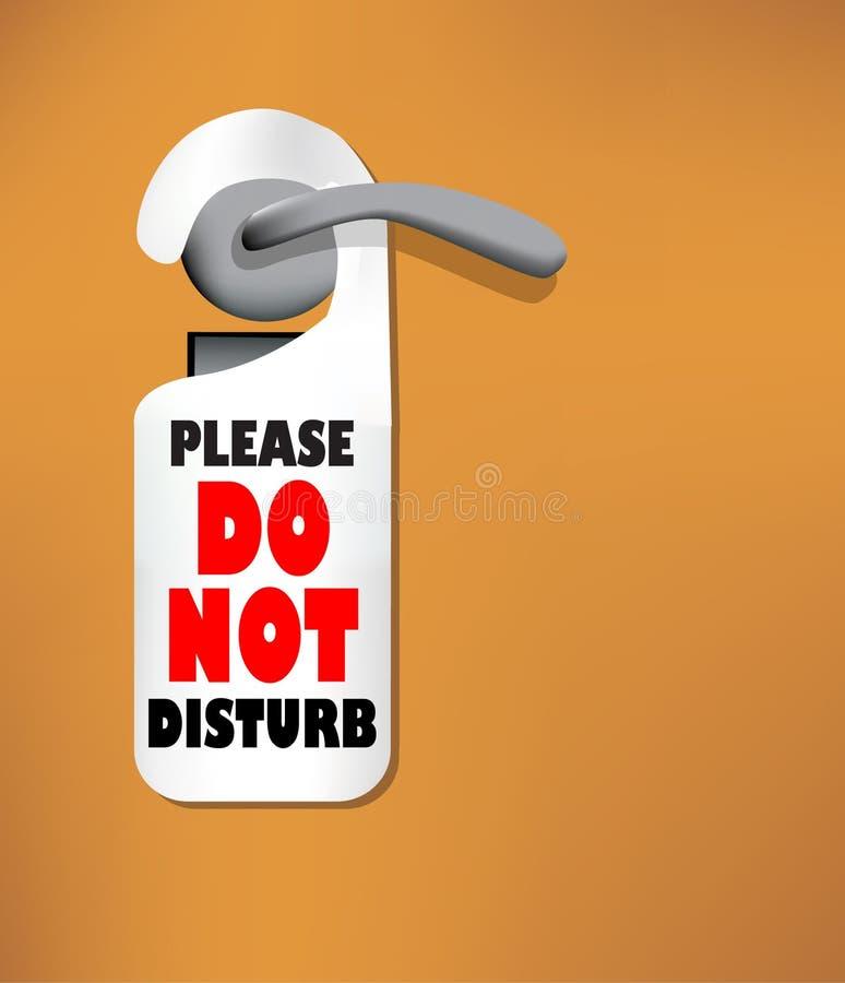 нарушьте сделайте древесину знака двери не иллюстрация штока