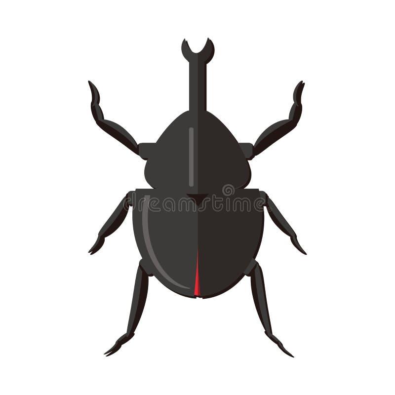 Насекомое природы питомника изолировало животных жуков объекта вектора сада иллюстрация вектора