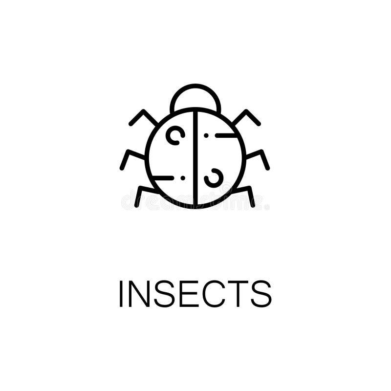 Насекомые плоские значок или логотип для веб-дизайна иллюстрация вектора