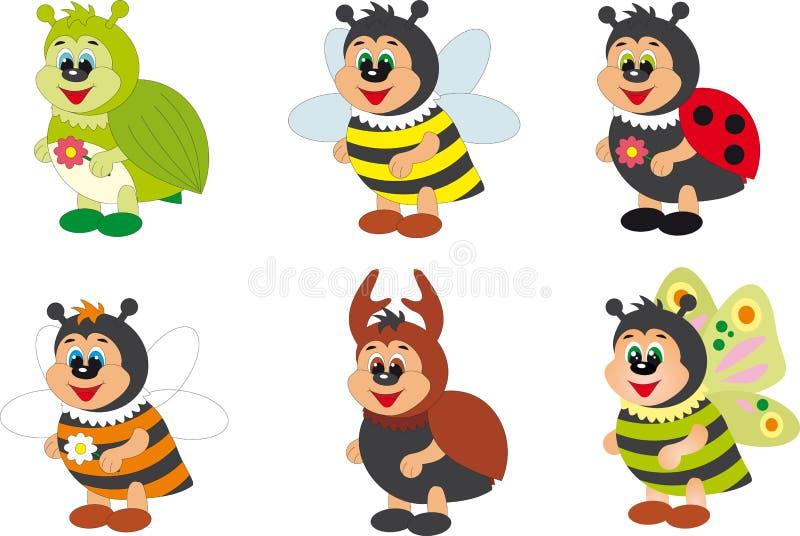 насекомые иллюстрация вектора