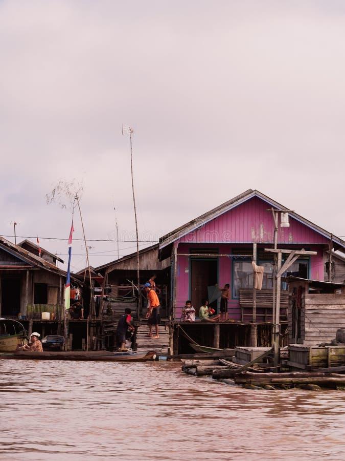 Население Kahayan деятельности стоковые изображения