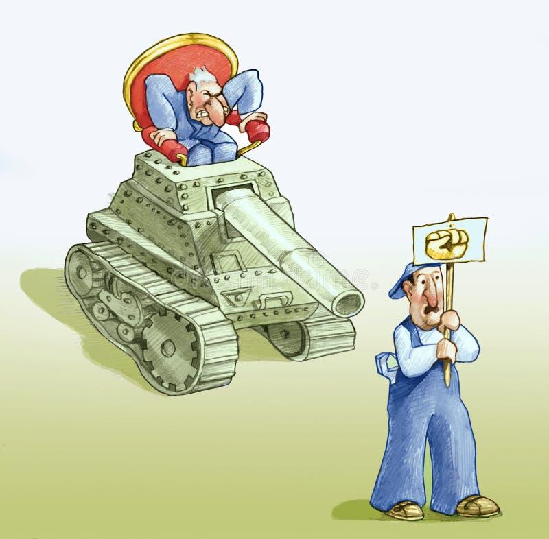 Насилие слабой силы бесплатная иллюстрация