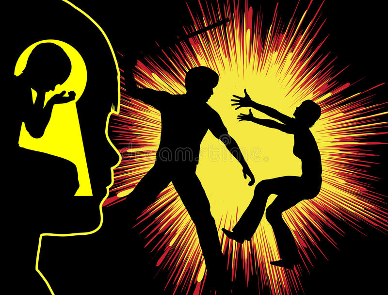 Насилие и травма иллюстрация штока