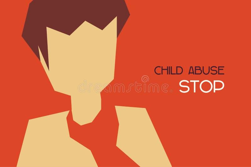 Насилие над ребенком бесплатная иллюстрация