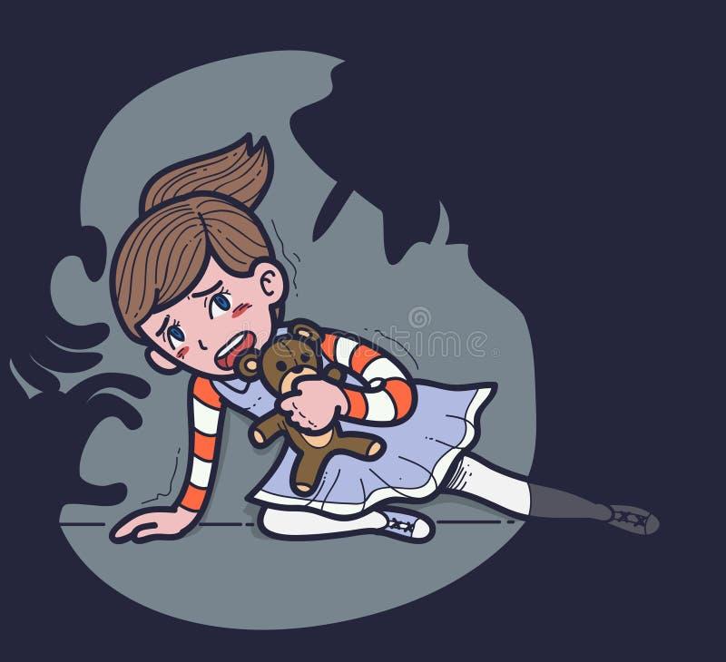 Насилие над ребенком иллюстрация штока