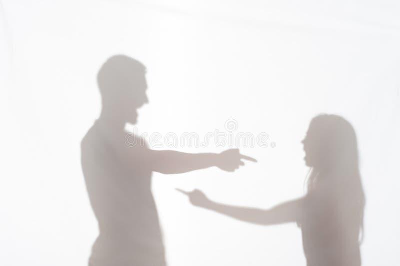 Насилие человека против женщины стоковое изображение