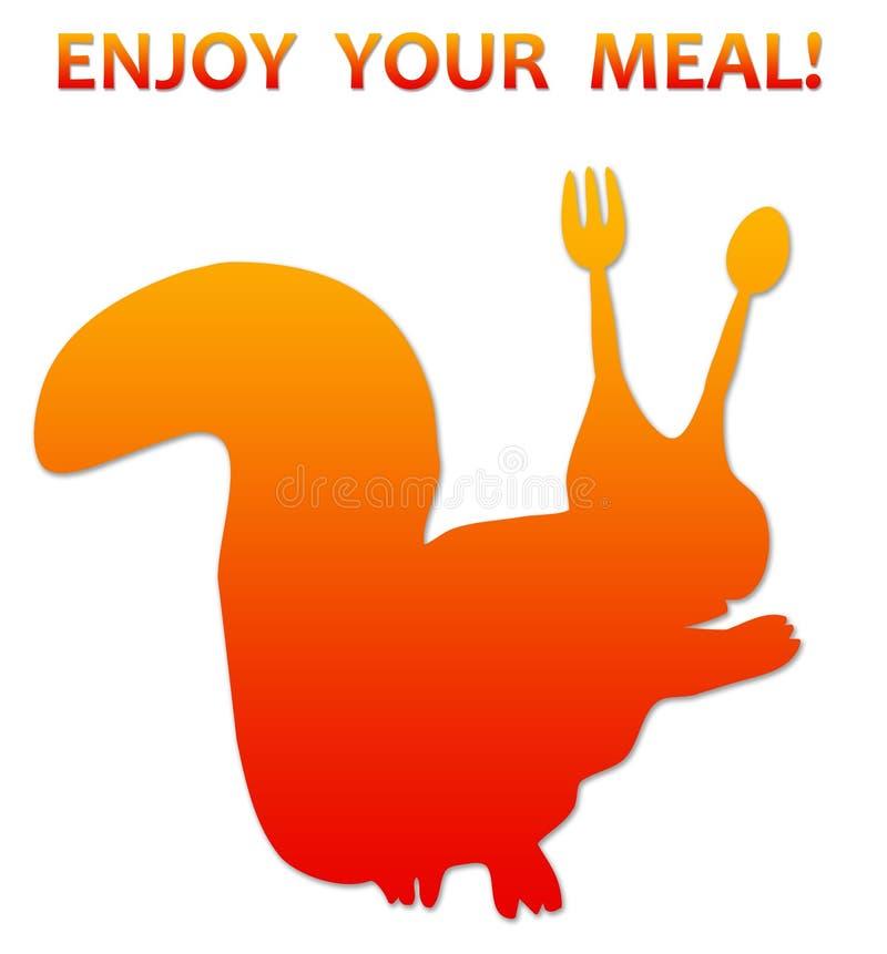 насладитесь едой вашей бесплатная иллюстрация