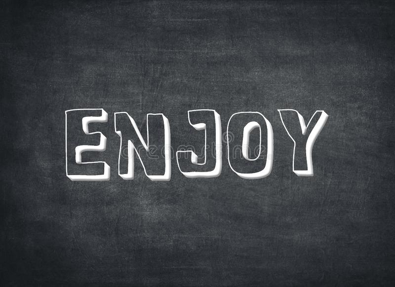 Насладитесь цитатой letterpress времени жизни дня наслаждения сегодня теперь стоковое фото rf