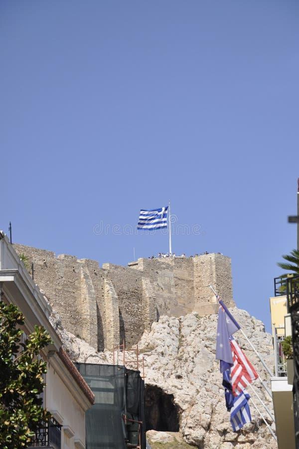 Наследие акрополя археологическое от Афин в Греции стоковое фото rf