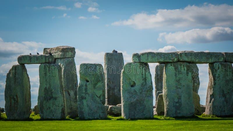 Наследие ЮНЕСКО Стоунхендж в конце Великобритании вверх по фото стоковые изображения