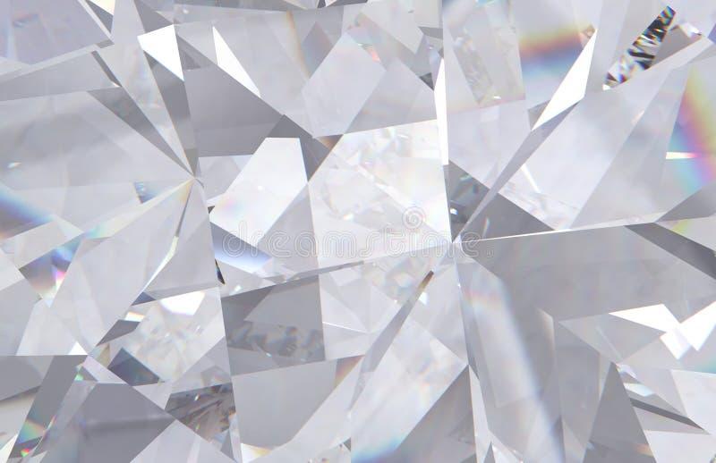 Наслоенные диамант текстуры триангулярные или предпосылка габитусов кристалла модель перевода 3d иллюстрация вектора