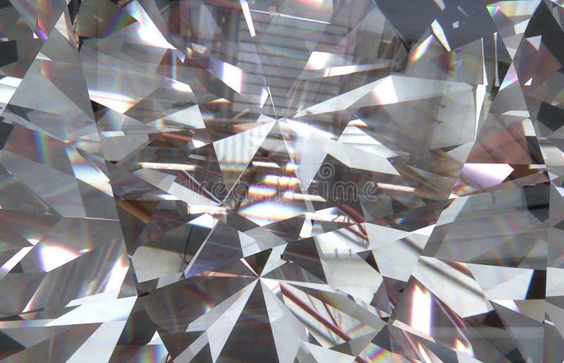 наслоенный триангулярный диамант макроса формирует с малым диамантом над ими 3d иллюстрация вектора