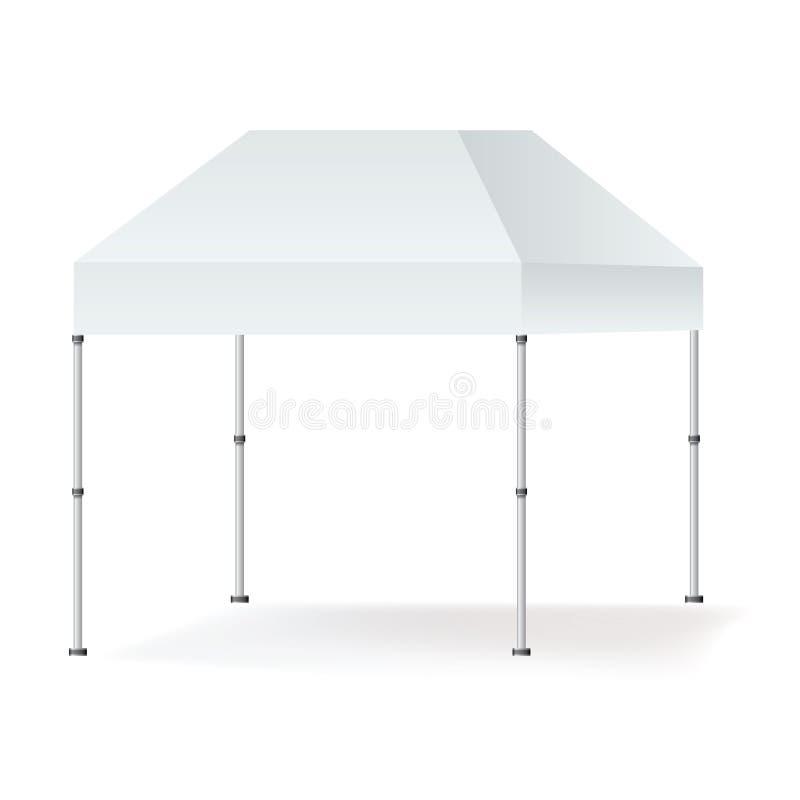 Насмешка будочки шатра шатёр вектора пустая внешняя вверх изолированная на белой предпосылке бесплатная иллюстрация
