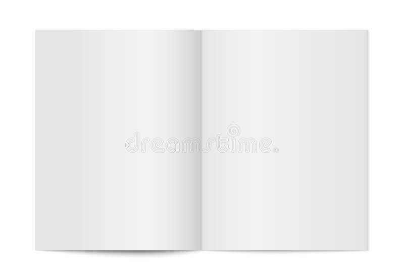 Насмешка вектора вверх изолированного буклета иллюстрация штока