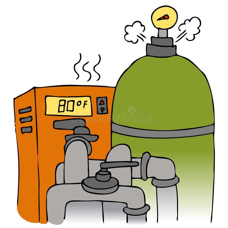 насос бассеина топления оборудования иллюстрация вектора