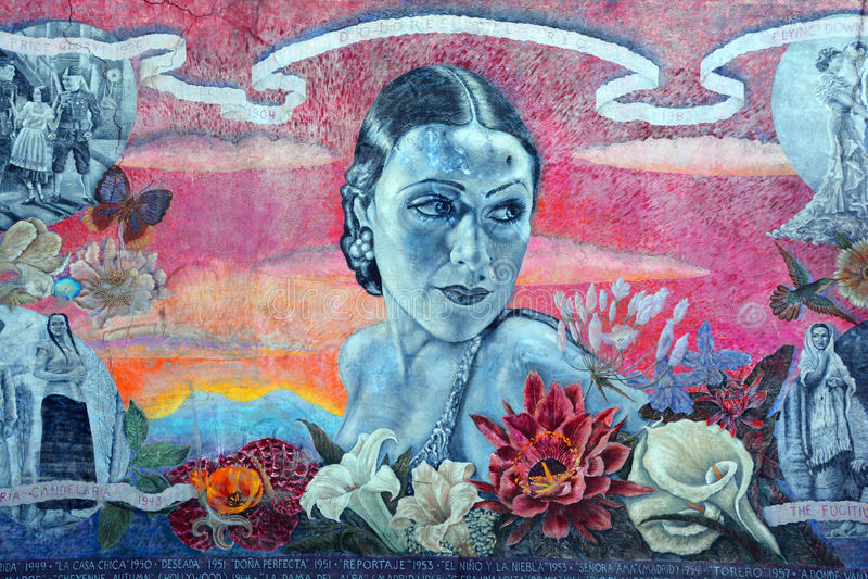 Настенная роспись Долореса Del Рио стоковые фото