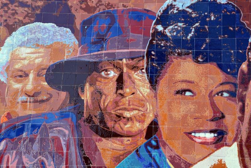 Настенная роспись 1945-1972 джаза Голливуда стоковое фото