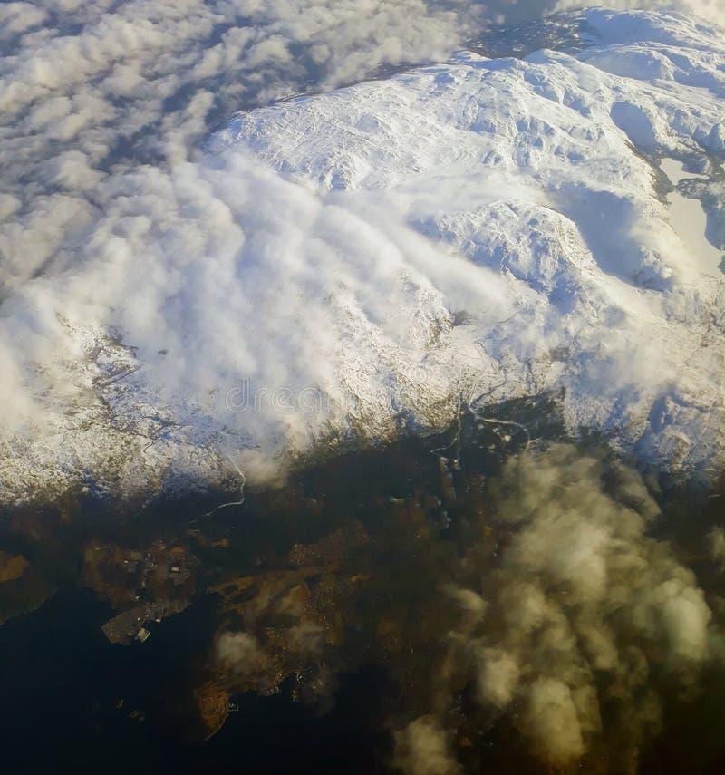 Настенная роспись любит представление зимы ` s Норвегии стоковое изображение rf
