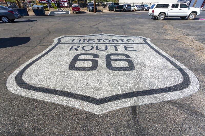 Настенная роспись на маршруте 66, Kingman, Аризона, Соединенные Штаты Америки, Северная Америка стоковое изображение rf
