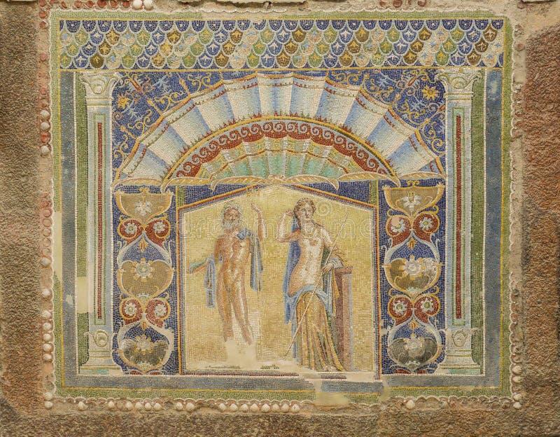 Настенная роспись Помпеи стоковое фото rf