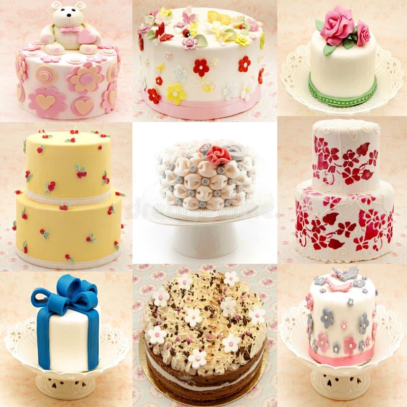 Настенная роспись различных тортов стоковая фотография rf