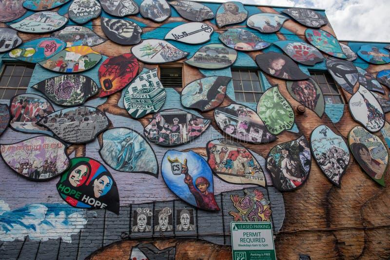Настенная роспись солидарности Олимпия-Рафаха стоковое изображение